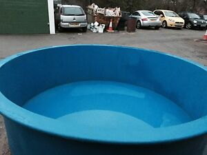800 gallon fibreglass koi vat holdingtank pond quarantine for Koi quarantine pond