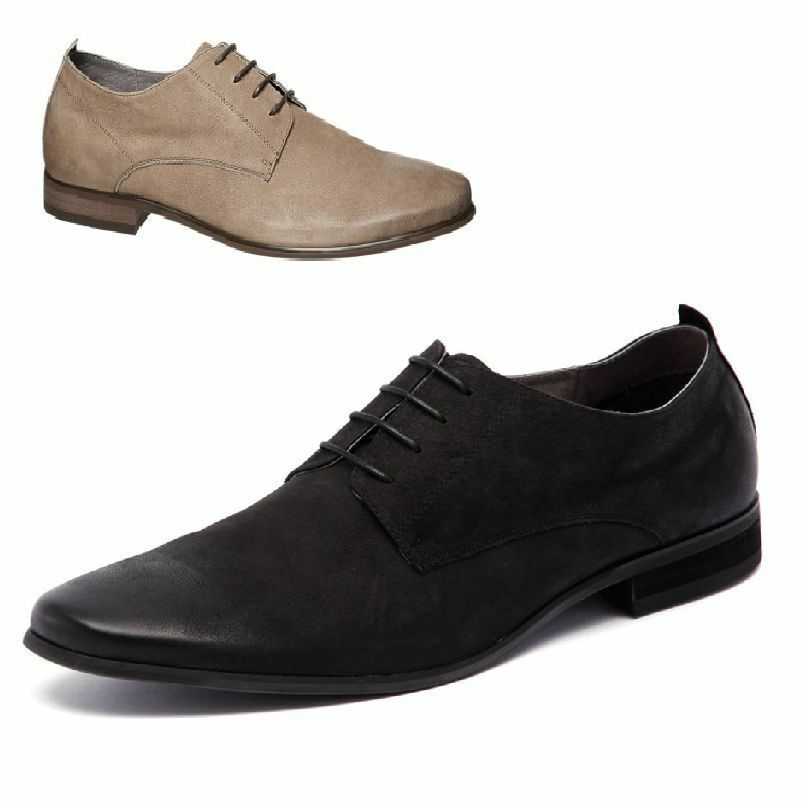 MENS JULIUS MARLOW GROWL BLACK BEIGE FORMAL CASUAL LACE UP DRESS MEN'S SHOES