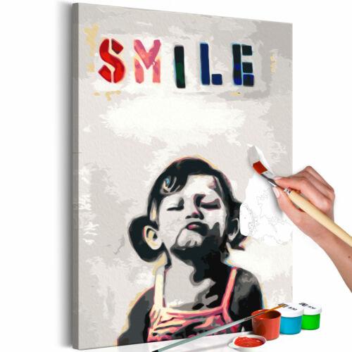 Malset mit Holzrahmen 40x60 Leinwand Erwachsene Gemälde Kit DIY n-A-0605-d-a