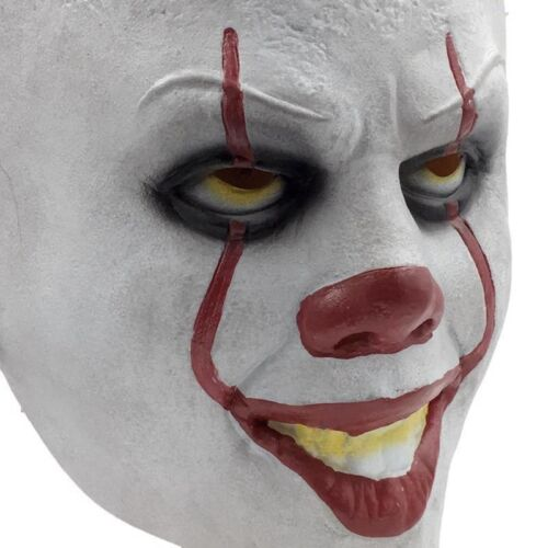Halloween Cosplay Scary Mask Costume Movie Stephen King/'s IT Clown Pennywise COS