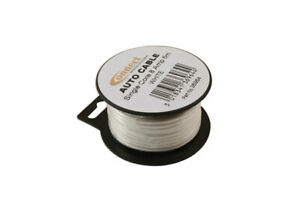 Mini-Bobine-Automotive-Cable-8-Amp-Blanc-6m-36964-par-Connect-Neuf