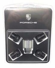 Set Of New Genuine Porsche Black Locking Alloy Wheel Nuts - 993 964 968 928 944