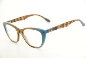 2ed5200f0c6f4 New Authentic Ray Ban RB 5322 5490 Brown Stripe Blue 51mm Eyeglasses ...