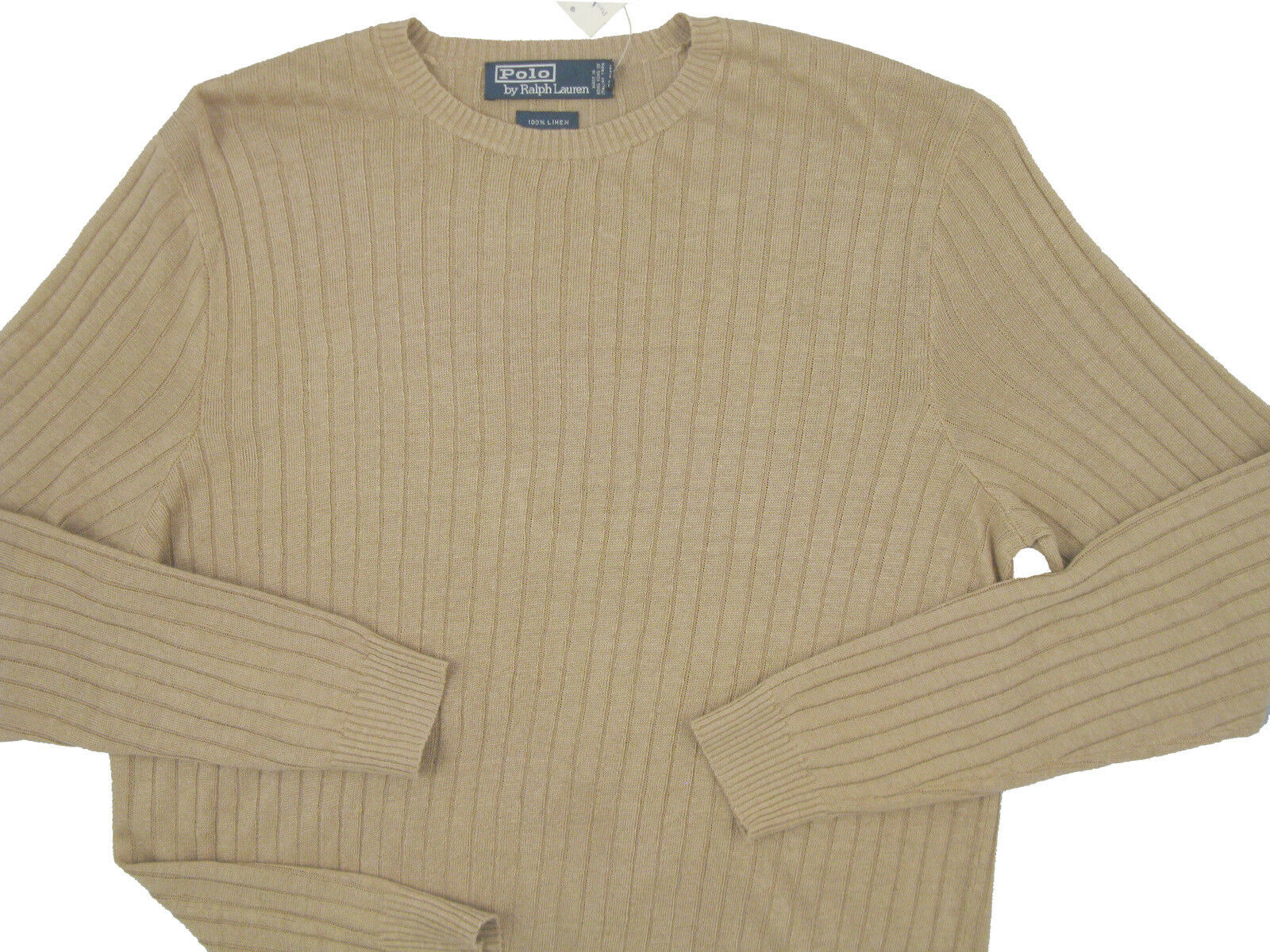 NEW  Polo Ralph Lauren Pure Linen Sweater  M L XL 2X  Slimmer Fit, Ribbed