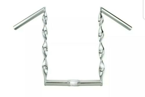 """FLAT TWISTED 15/"""" HANDLE BARS 25.4 MM LOWRIDER BICYCLES  CHROME"""