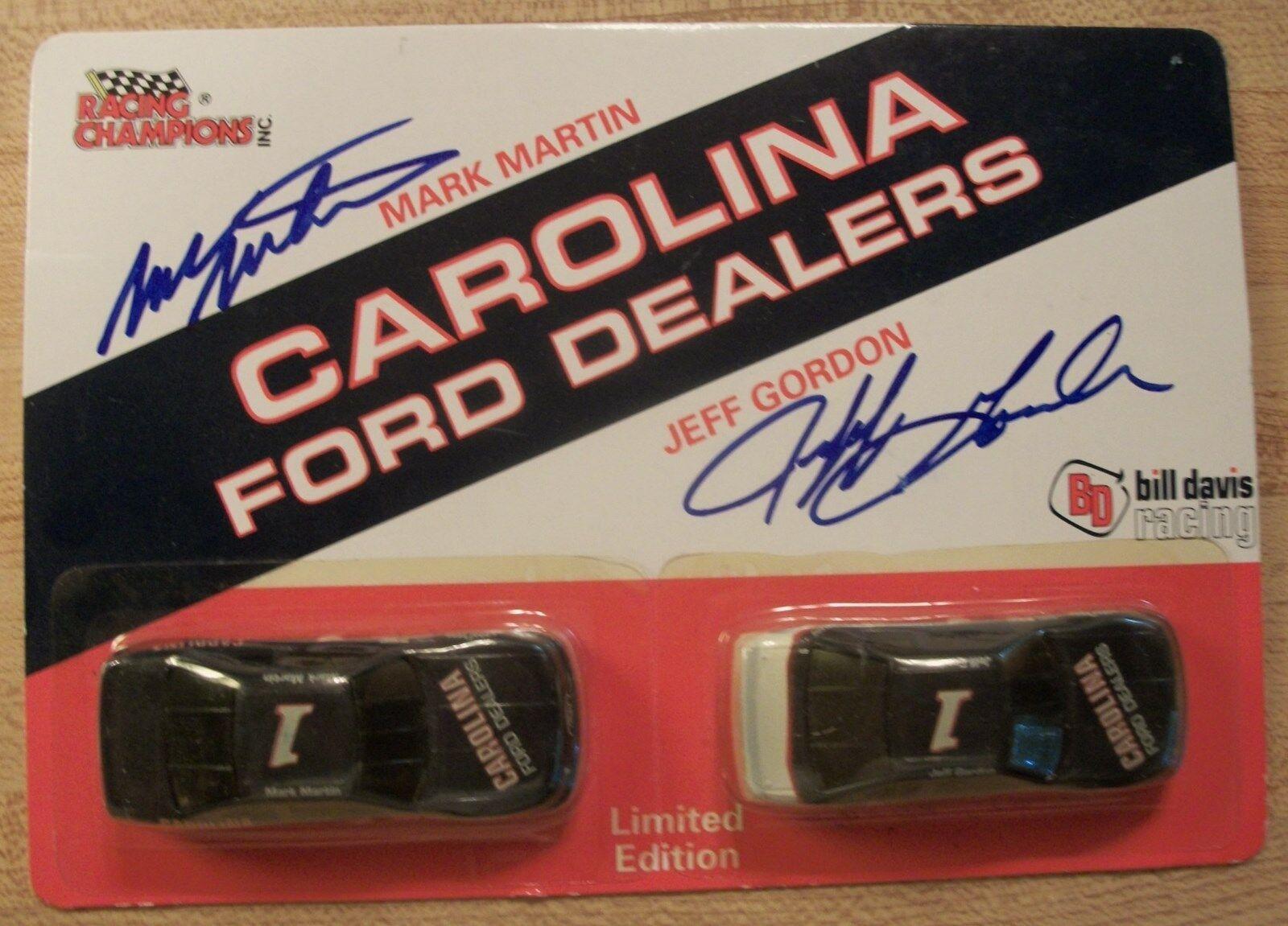 Jeff Gordon Mark Martin Carolina Ford distribuidores autógrafo Set Set Set mano sighned 1993 cea802