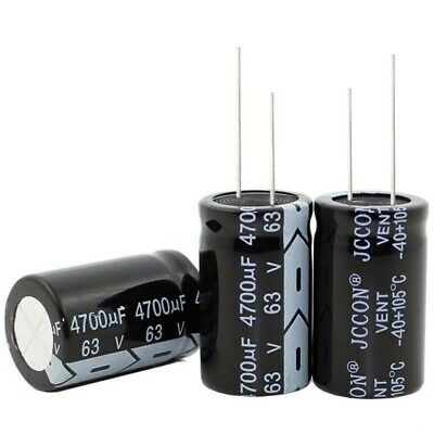 2pcs 63v 4700uf 4700mfd 105c aluminum electrolytic capacitor 22×40mm usa ship