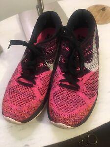 2f83aa6d48b Nike Flyknit Lunar 3 pink running shoe Women US 9 91204580733