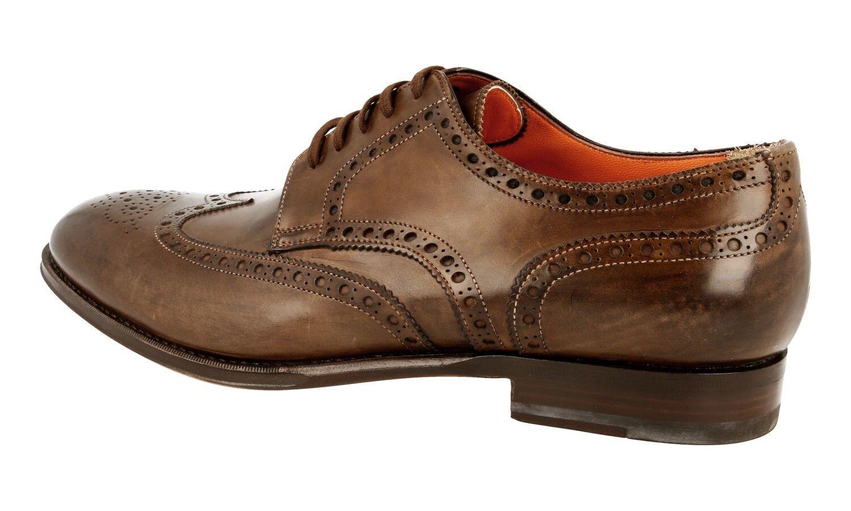 Santoni Full Brogue Wingtip Wingtip Wingtip Business Chaussures 14532 Marron Nouveau New 8,5 42,5 43 87d976