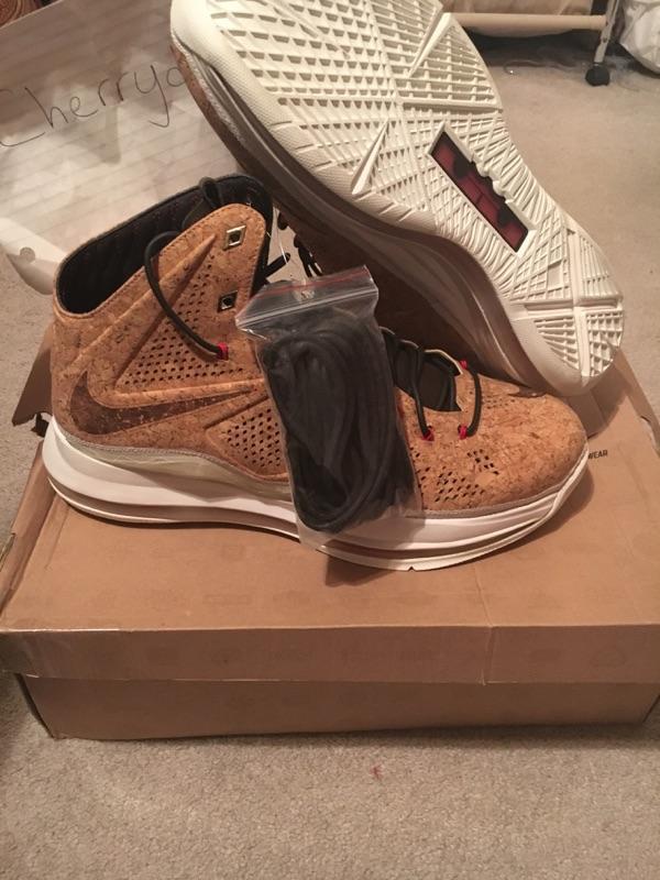 DS Nike Lebron X 10 EXT Cork QS 12 580890 200 boost Virgil Abloh off white OFFER
