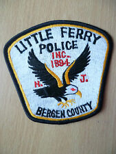 Patches:LITTLE FERRY INC.1894 NEW JERSEY BERGEN COUNTY POLICE PATCH(New,3.14x4in