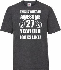 Image Is Loading 27th 27 Years Old Twenty Seventh Birthday Presents