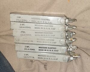 WESTERN-ELECTRIC-141A-1-MFD-CONDENSER-CAPACITOR-tube-amplifier-89-91