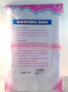 2x Washing Aid Laundry Wash Bag Zipper Mesh Clothes Bra lingerie 35X22X21cm