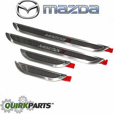 2014-2016 Mazda 3 Stainless Steel Door Sill Trim Plates OEM 0000-8T-L31A