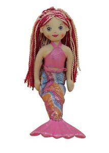 Ganz E1 Shimmer Cove Girl 18in Plush Stuffed Mermaid Toy Doll - Marlowe H14461