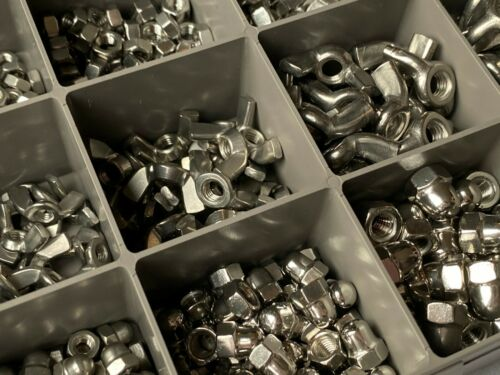 ASSORTED A2 STAINLESS STEEL NUTS M4 M5 M6 M8 WING DOME FULL NUT