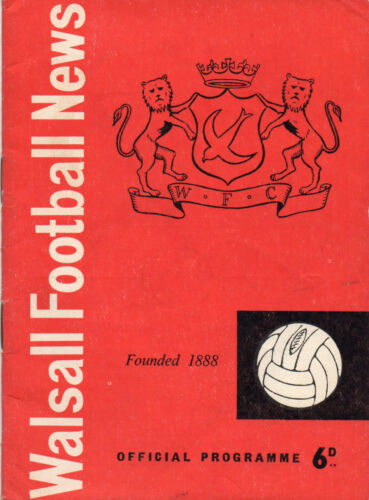 Walsall v Oldham Athletic 1959