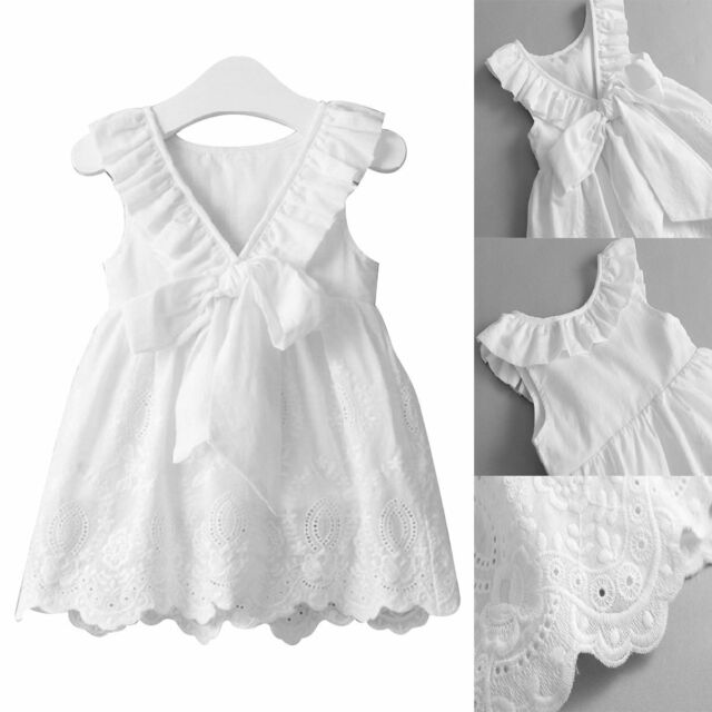 New Baby Girls Toddler Party Princess Lace Pageant Tutu Kids Bow Bowknot Dresses