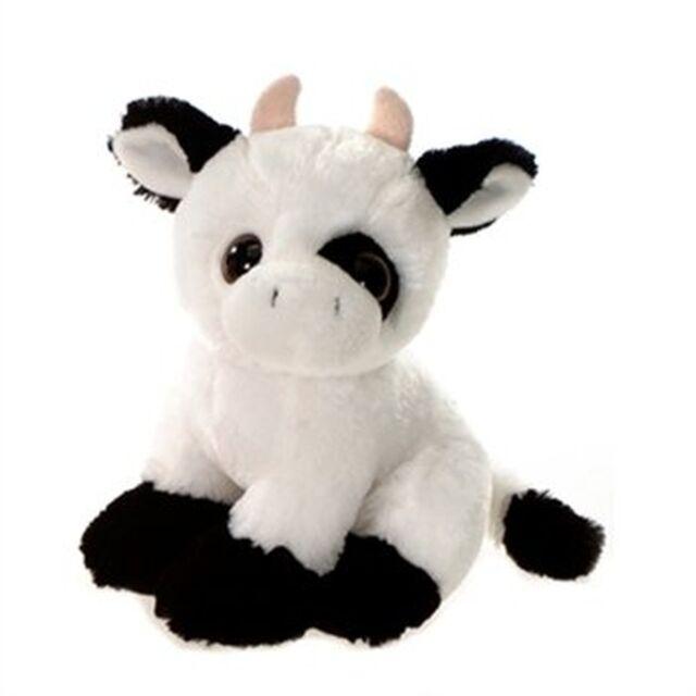 Cow Plush Stuffed Animal Toy With Big Eyes By Fiesta Toys 9 Ebay