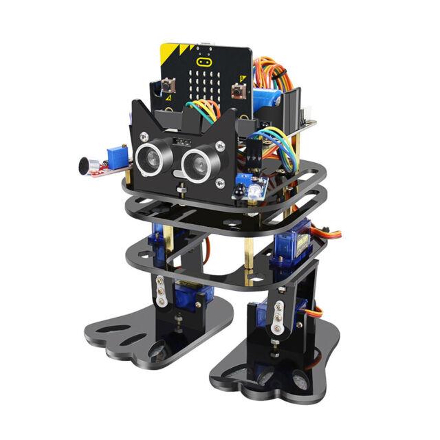 Smart Biped Robot DIY Toy Programming Infrared Remote Control for STEM F1N8