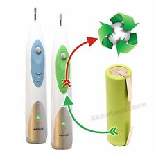 Akkuwechsel für elektrische Zahnbürsten von Waterpik u.a. SR-3000 SR-1000 SR-700