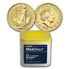 2017 Great Britain 1 oz Gold Britannia (10-Coin MintDirect® Tube)