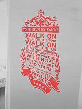 Liverpool Wall Art Sticker si ll never walk alone