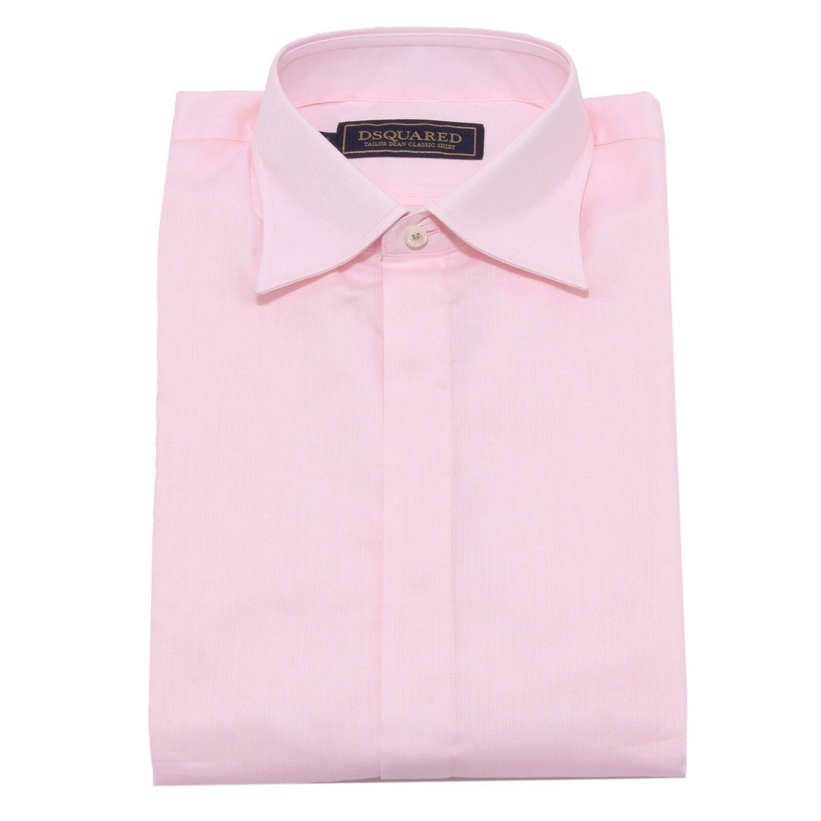 4874W camicia uomo DSQUARED TAILOR DEAN CLASSIC rosa shirt men