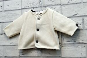 Cardigan Neonato Burberry London 1 - 3 Mesi Cardigan con Bottone Newborn Coat
