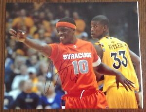 Details About Jonny Flynn Hand Signed 8x10 Photo Syracuse Racc