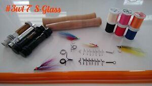 Custom-Built-3wt-7-039-3-Piece-S-Glass-Fly-Rod-Translucent-Orange-3Yr-Warranty