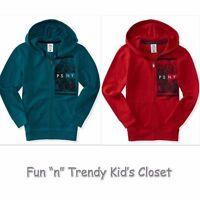 Ps Aeropostale Boys Size 10 Or 12 Kids' Psny City Full-zip Hoodie Sweatshirt