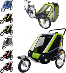 Remorque vélo  + poussette pour 2 enfants amortisseur trasport à de jogger landau  Con 100% de calidad y servicio de% 100.
