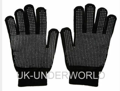 2 Pair Mens Ladies Winter Warmer Driving Gloves with Palm Grip