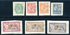 DEDEAGH 1902 Yvert 10-16 gestempelt schöne MARKEN + BRIEFSTÜCKE (K9746