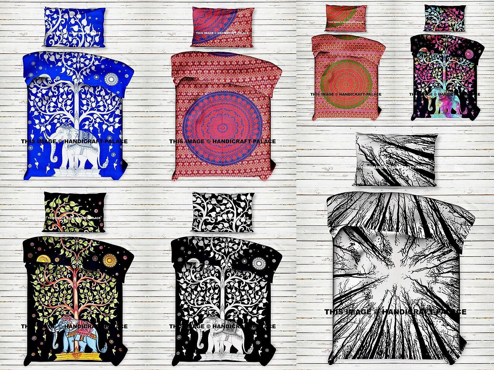 5 PC ASSORTITI LOTTO all'ingrosso Indiano Mandala STAMPA DOPPIA Dimensione Boho Set Copripiumino