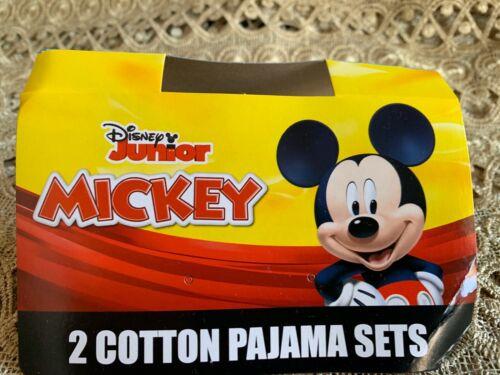 NWT Disney Mickey Mouse Boys 4-pc Pajama Set Toddler 2T