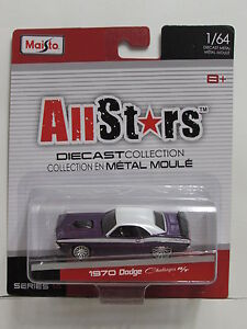 Maisto-Allstars-Serie-14-1970-Dodge-Challenger-R-T-Viola-1-64
