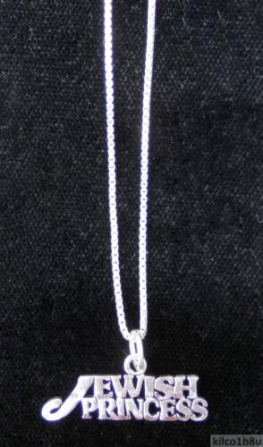 "Sterling Silver Princess Necklace JEWISH PRINCESS 18/"" chain /& pendant"
