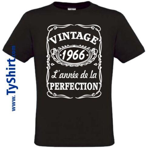 Tee Shirt Vintage 1966 Anniversaire style Whisky   S M L XL XXL XXXL