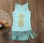 Cute Pineapple Toddler Kids Baby Girl Dress Sleeveless Party Tassel Dress