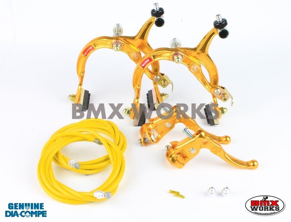 Dia-Compe  MX1000 - MX121 gold Brake Set - Old Vintage School BMX  100% brand new with original quality