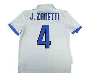 INTER MILAN 2009-10 ORIGINALE AWAY SHIRT ZANETTI #4 (eccellente) M SOCCER JERSEY
