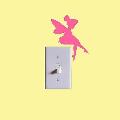 Tinkerbell light switch wall art sticker Tinkerbell children/' bedroom wall art