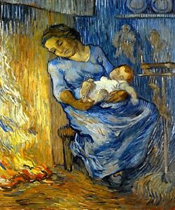 Mother and baby sleeping l 39 homme est en mer painting by for Ciao bambini van gogh