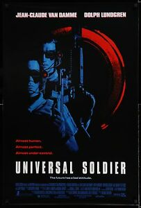 UNIVERSAL SOLDIER 1992 Movie Poster 27x40 • #SciFi #MartialArts #MoviePoster
