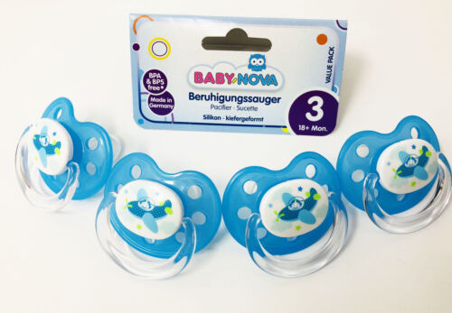 Month Feeding BPA FREE Baby Kids Soother Dummies Nova Germany 4Pack Pacifier 18