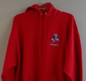 pretty nice 769ee 96521 Details about NFL New England Boston Patriots Retro Logo Embroidered Hoodie  S-5XL, LT-4XLT New