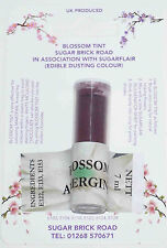 Sugarflair Aubergine Blossom Tint Powder, 7ml Edible Food Colour Dust Sugarcraft